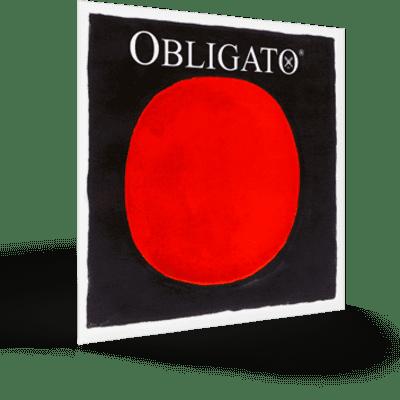 Pirastro Obligato 411025 4/4 Violin Synthetic Core Set, Loop-end E Med Tension