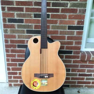 Boulder Creek Acoustic Fretless 5 string bass 2015 Natural for sale