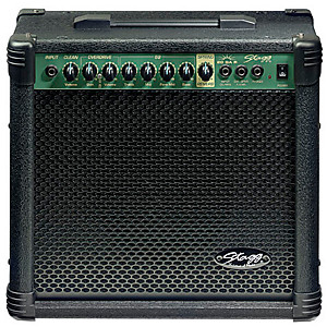 Stagg 40 AA R USA 40 Watt RMS Acoustic Guitar Amplifier with Spring Reverb