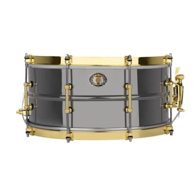 "Ludwig LB407XXC 110th Anniversary Black Beauty 6.5x14"" 8-Lug Brass Snare Drum  2019"