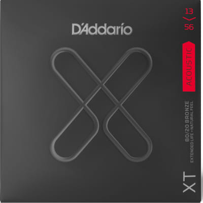 D'Addario XTABR1356 XT 80/20 Bronze Acoustic Guitar Strings -.013-.056 Medium