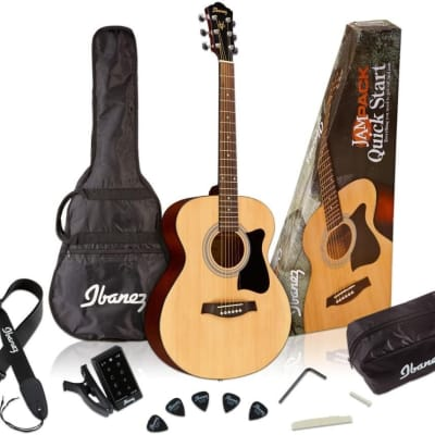 Ibanez Jampack Grand Concert Acoustic Guitar Pack  - Natural for sale