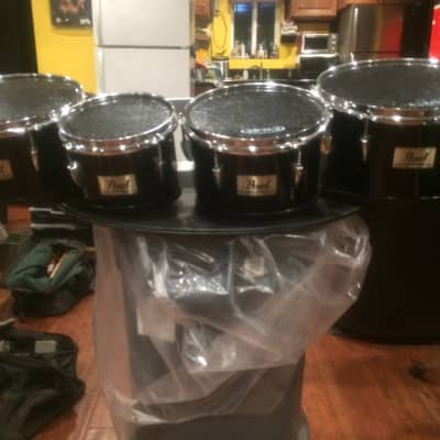 Pearl Competitor Series Marching Quad Tenor 2010's Shiny Black