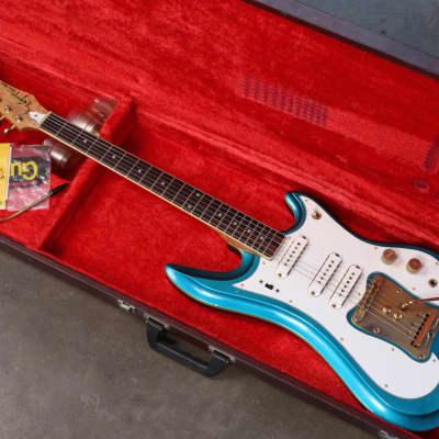 1960s/ 70s GUYATONE (Guya) LG-350T Custom - Lake Placid Blue - OHSC w/ Case Candy for sale