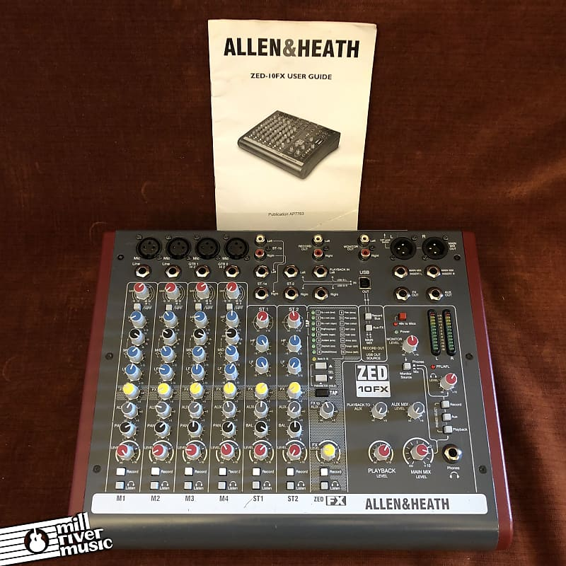 Allen & Heath ZED-10FX Compact 10-Input Analog Mixer w/ Manual