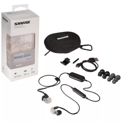 Shure SE215-CL-BT1 Wireless Sound Isolating Bluetooth Earphones Clear Ships FREE lower 48 States!