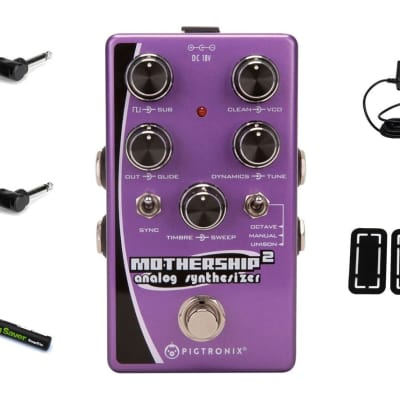 Pigtronix Mothership 2 Analog Synth PRYMAXE PEDAL BUNDLE image