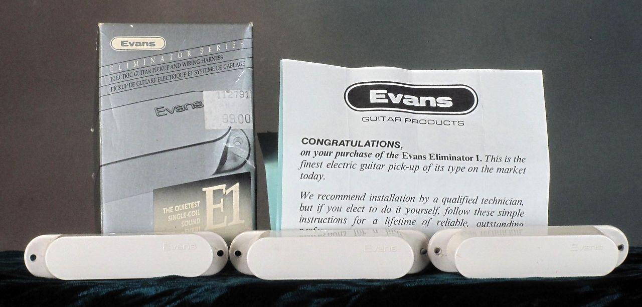evans e eliminator noiseless strat pickups white  evans wiring harnesses