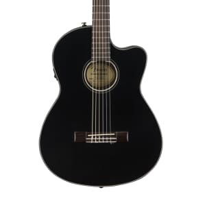 Fender CN-140SCE Thinline Classical Cutaway with Electronics Black