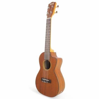 MAKAI CK-65 Mahogany Concert Cutaway Ukulele With Pickup for sale