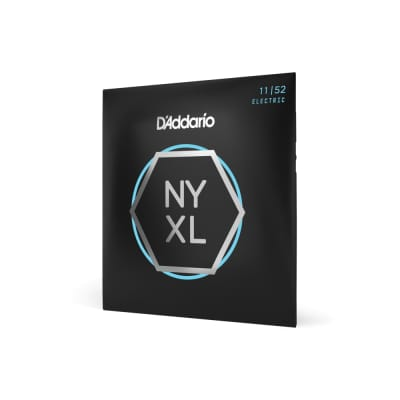 D'Addario NYXL - Nickel Wound NY Steel Core Electric Guitar Strings - Medium Top/Heavy Bottom (11-52)
