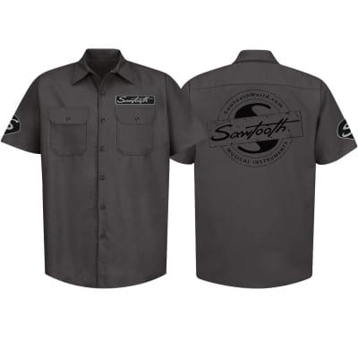 Sawtooth Short Sleeved Work Shirt with Logo, XXXL