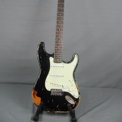 Rittenhouse  S Style Guitar Relic'd  2021 Black over Sunburst  w/HSC for sale