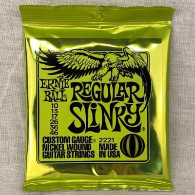 Ernie Ball 2221 Regular Slinky Electric Guitar Strings, .010 - .046