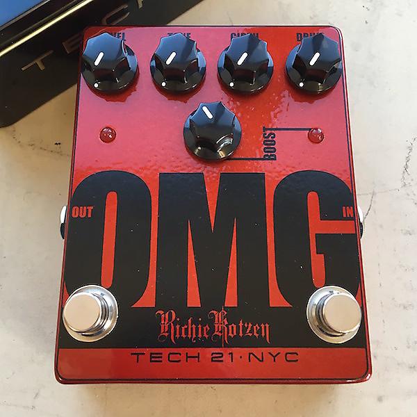 Tech 21 OMG Richie Kotzen Signature Overdrive Distortion Guitar Pedal!