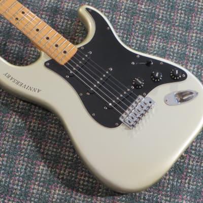 1979 Fender 25th Anniversary Stratocaster Silver! w/OHSC for sale
