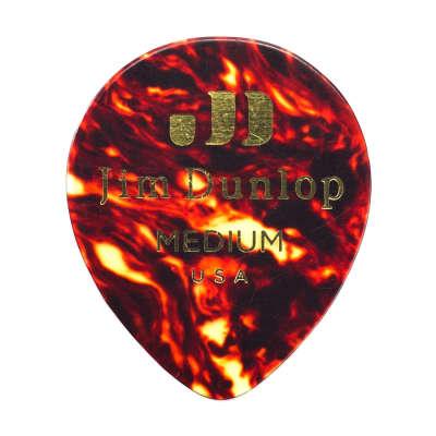 Dunlop 485P05HV Celluloid Shell Teardrop Heavy Guitar Picks (12-Pack)