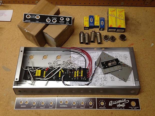 6g6 b fender bassman amp kit blonde brownface chassis jj reverb. Black Bedroom Furniture Sets. Home Design Ideas