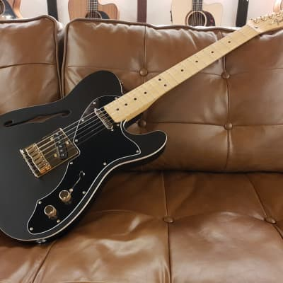 Fender Limited Edition Telecaster Thinline Deluxe - Satin Black (2019) for sale