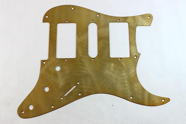 fender strat textured gold aluminum hsh pickguard reverb. Black Bedroom Furniture Sets. Home Design Ideas