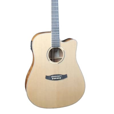 Tanglewood Discovery Dreadnought Cutaway Electro Acoustic Guitar Natural for sale