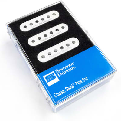Seymour Duncan STK-S4 Classic Stack Plus Pickup Set for Strat - white image