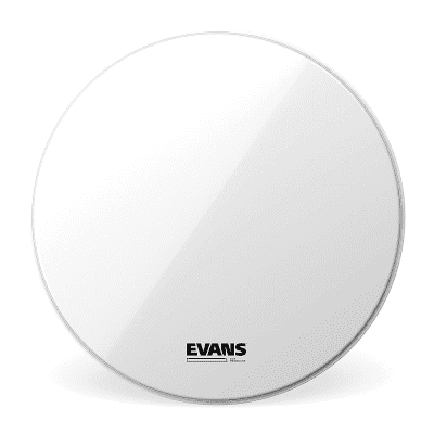 """Evans BD20RSW-NP EQ3 Resonant Smooth White Bass Drum Head with No Port - 20"""""""