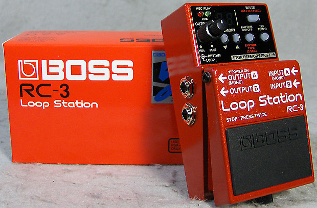 brand new boss rc 3 loop station w 3 hour sof record time reverb. Black Bedroom Furniture Sets. Home Design Ideas