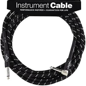 Fender Custom Shop BLACK TWEED Guitar Cable, Straight to Right-Angle, 18.6' ft for sale