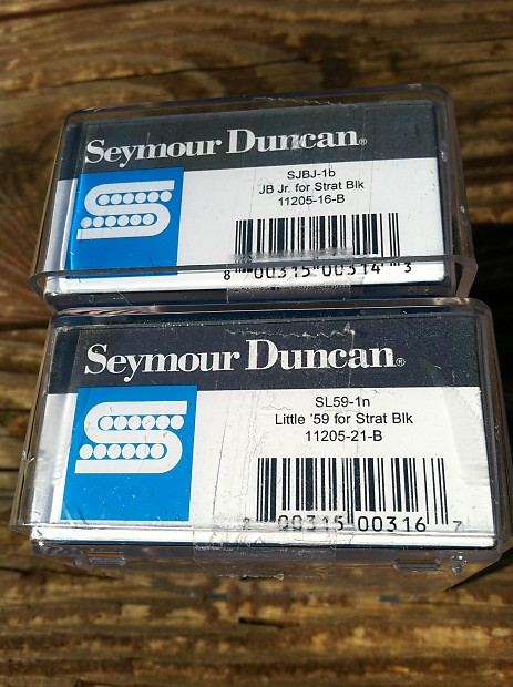 Seymour Duncan Jb Jr  U0026 Little 59 Strat Pickup Set Black