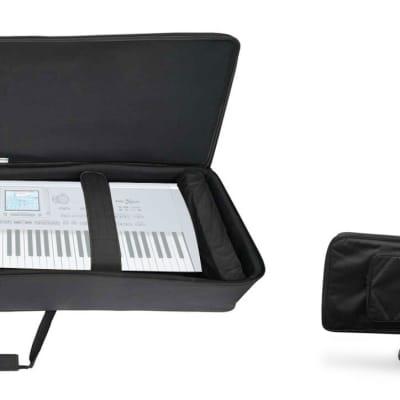 Rockville 88 Key Slim Padded Rigid Keyboard Gig Bag Case For KORG Pa1X PRO