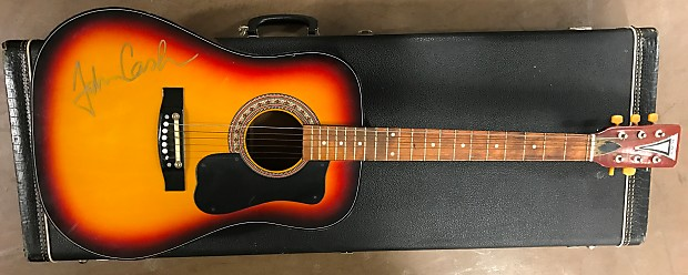 kay acoustic guitar signed by johnny cash 1980 39 s reverb. Black Bedroom Furniture Sets. Home Design Ideas
