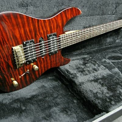 Brian Moore i2000 series I9 Electric Guitar Root Beer Quilted, Quantum Pickups, HSC for sale
