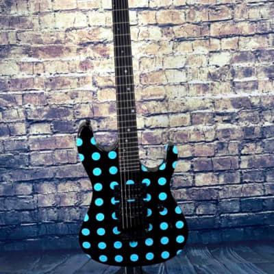 Kramer NightSwan  Black with Blue Polka Dot for sale