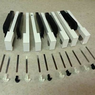 Complete octave key set #2 for Korg T1 keyboard (hammer weighted keys) with pivots & return springs