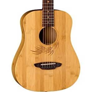 Luna Guitars Safari Bamboo 3/4 Satin Natural Acoustic Guitar Natural SAF BAMBOO for sale