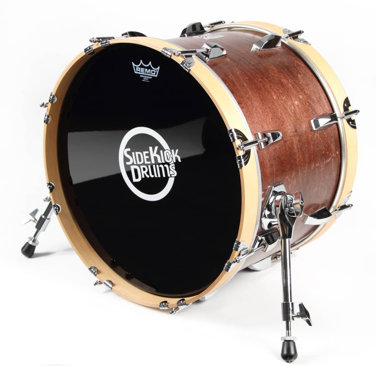 side kick drums travel bass drum 12 x18 2017 red reverb. Black Bedroom Furniture Sets. Home Design Ideas