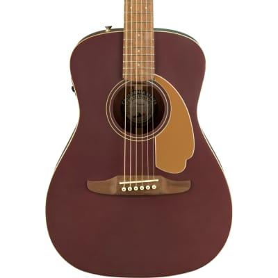 Fender 0970722088 Malibu Player WN Acoustic Electric Guitar - Burgundy Satin