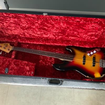 Fender Jaco Pastorius Relic Fretless Jazz Bass Custom Shop 2002 3 color sunburst for sale