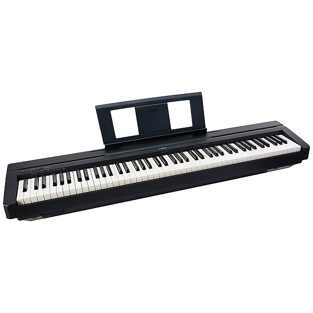 Yamaha p series p45b 88 key digital piano in black with for Yamaha b series piano