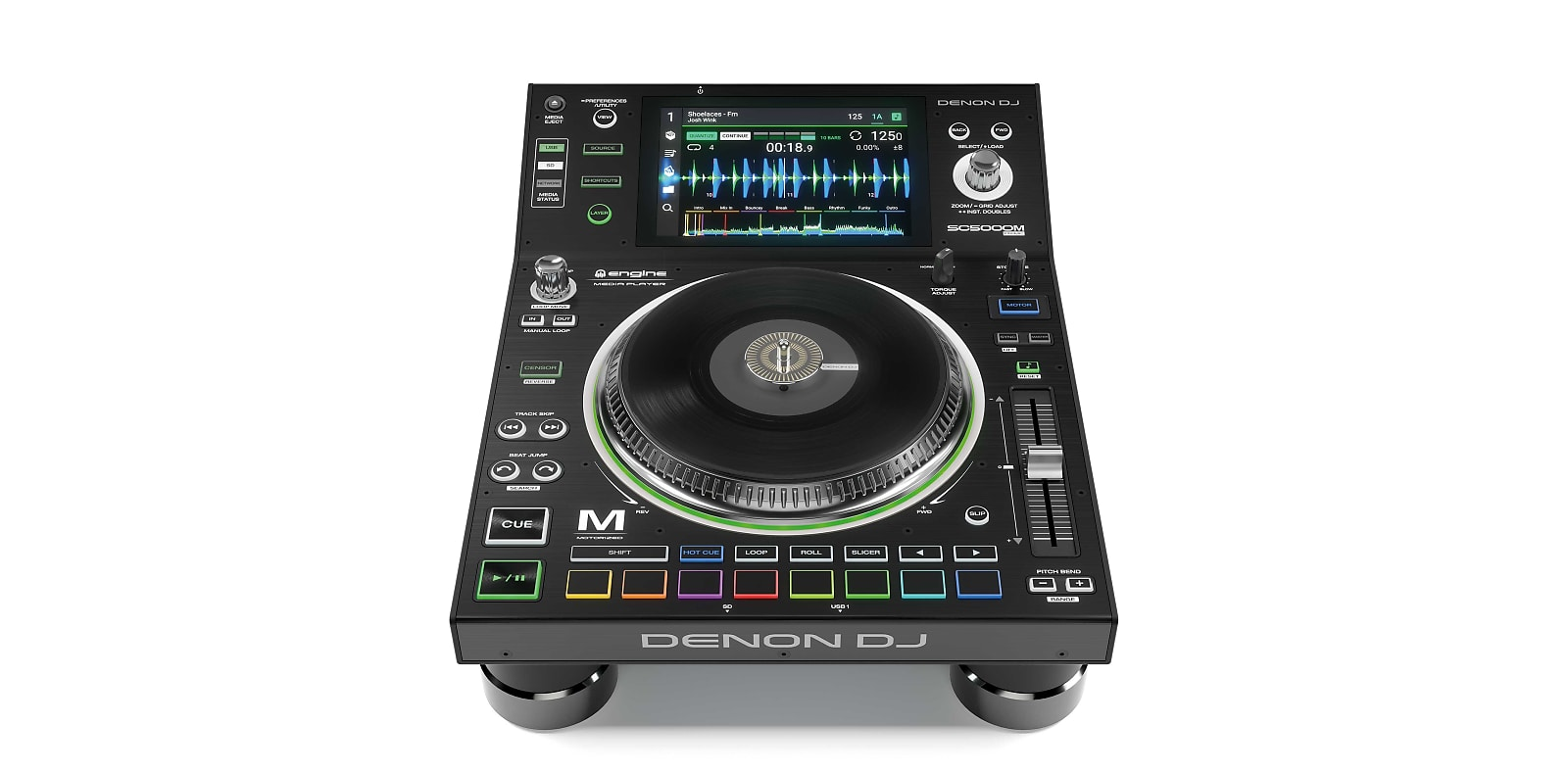 "Denon SC5000M PRIME Motorized Platter Professional DJ Media Player with 7"" Multi-touch Display"