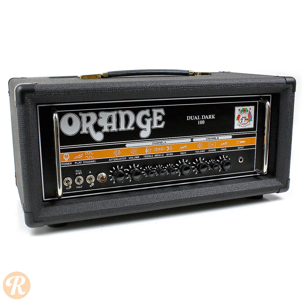orange dd100 dual dark 100w twin channel guitar head reverb. Black Bedroom Furniture Sets. Home Design Ideas
