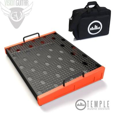 "Temple Audio Design Duo 17 (17"" x 12.5"") Pedalboard w/Soft Case Temple Red"