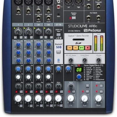 PreSonus StudioLive AR8c 8-Input Mixer / Digital Recorder / Audio Interface