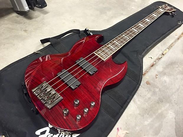 esp ltd viper 404 electric bass 2008 dark red reverb. Black Bedroom Furniture Sets. Home Design Ideas