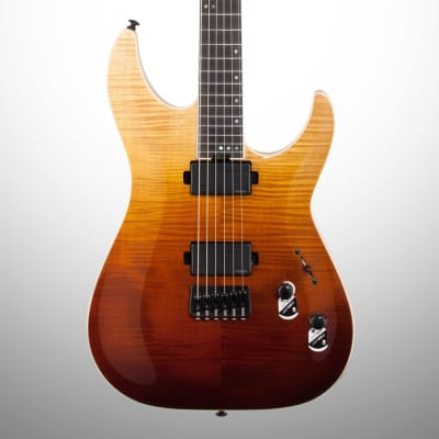 Schecter C-1 SLS Elite Electric Guitar, Antique Fade Burst for sale