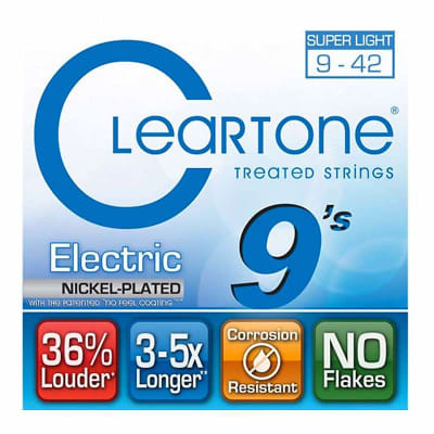 Cleartone Electric Nickel-Plated Strings - 9-42