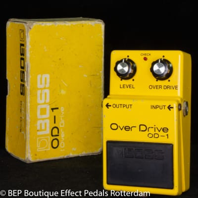 Boss OD-1 Overdrive 1981 s/n 0400 Long Dash, Silver Screw with JRC4558D op amp Japan