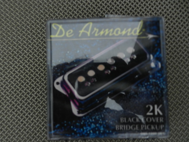 DeArmond 2K Dynasonic Reissue Pickup Black Bridge 2000 Black on