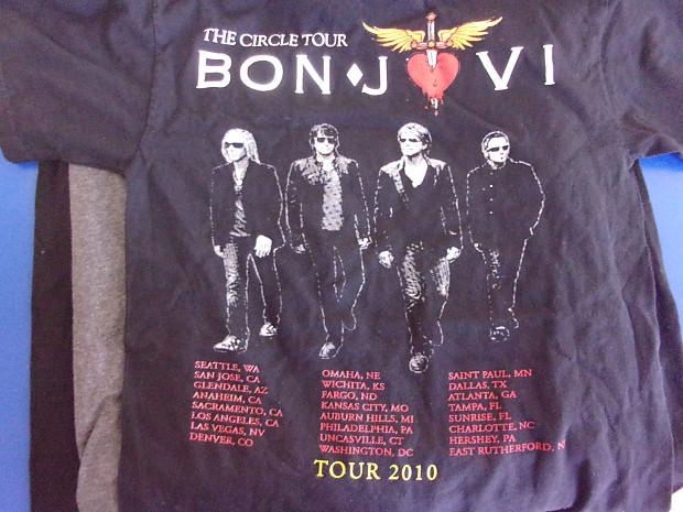 Bon Jovi The Circle Vintage Concert T Shirt 2010 Tour Black Reverb